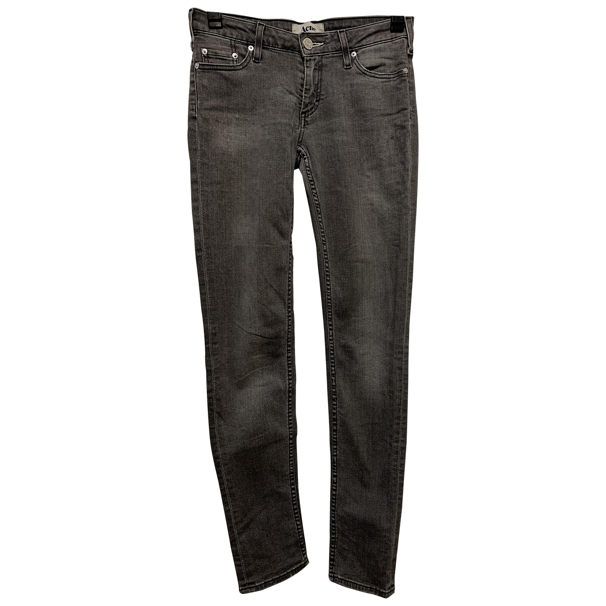Acne Studios \N Anthracite Cotton - elasthane Jeans for Women 26 US