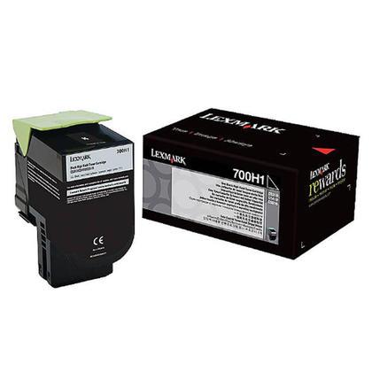 Lexmark 700H1 70C0H10 Original Black Toner Cartridge High Yield
