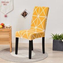 Funda de silla con patron geometrico