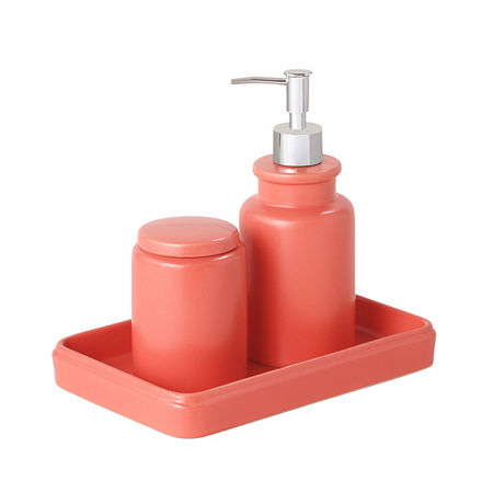Taylor 3 Pc. Bath Accessory Set, One Size , Orange