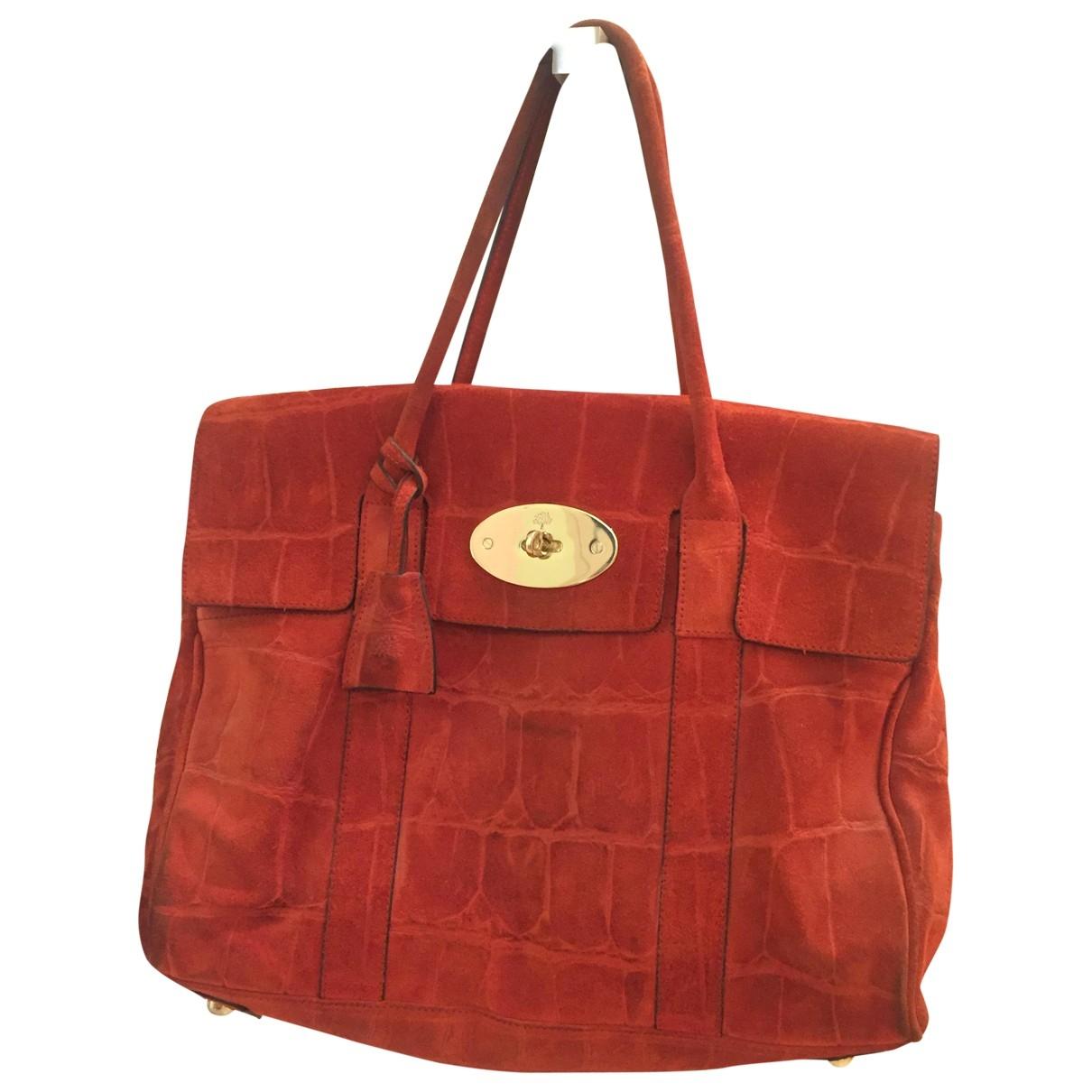 Mulberry Bayswater Orange Suede handbag for Women \N