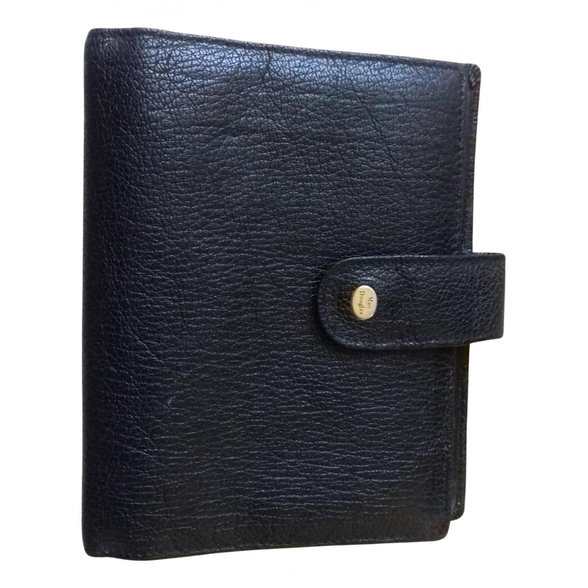 Mac Douglas \N Portemonnaie in  Schwarz Leder