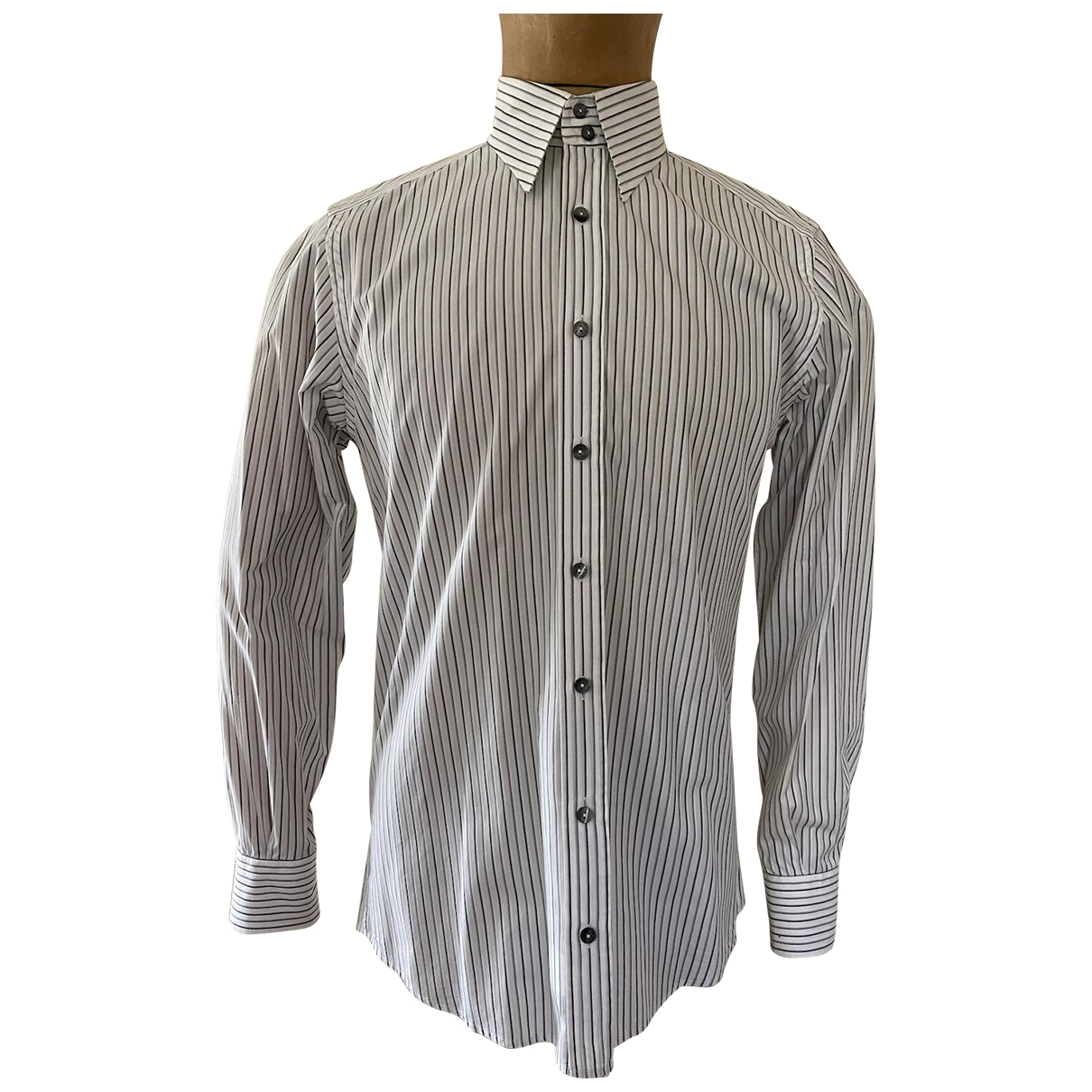 Gucci \N White Cotton Shirts for Men 15.5 UK - US (tour de cou / collar)