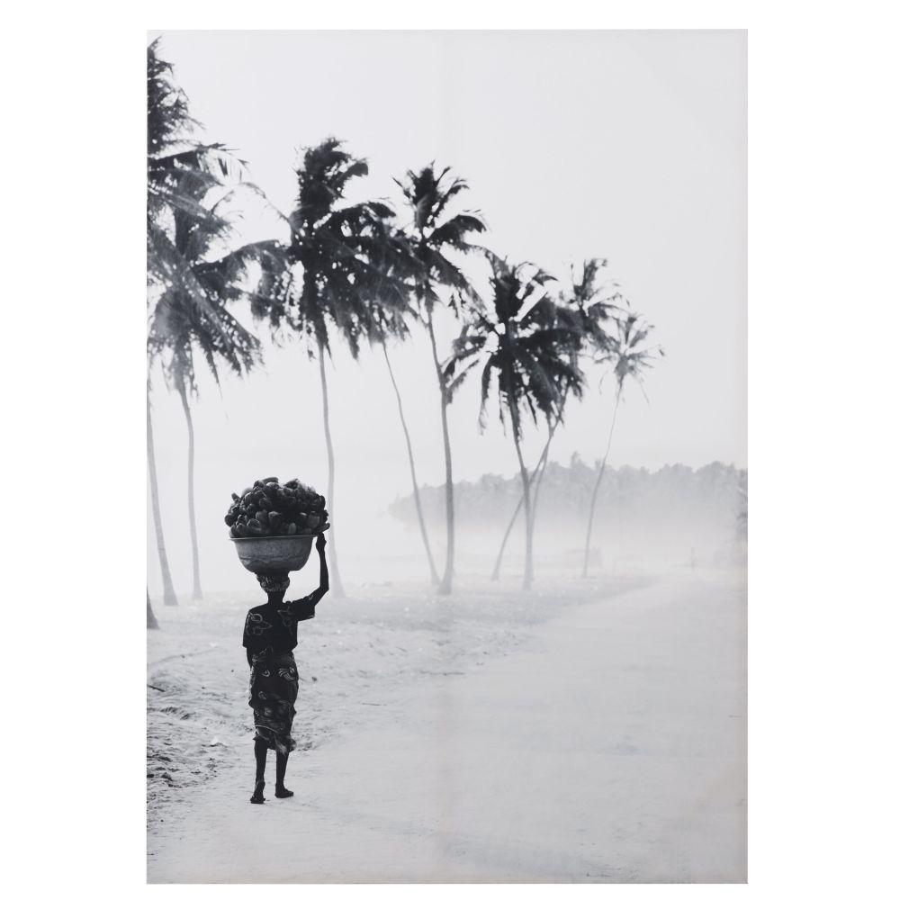 Leinwand bedruckt mit Landschaftsmotiv, schwarz und weiss 92x130