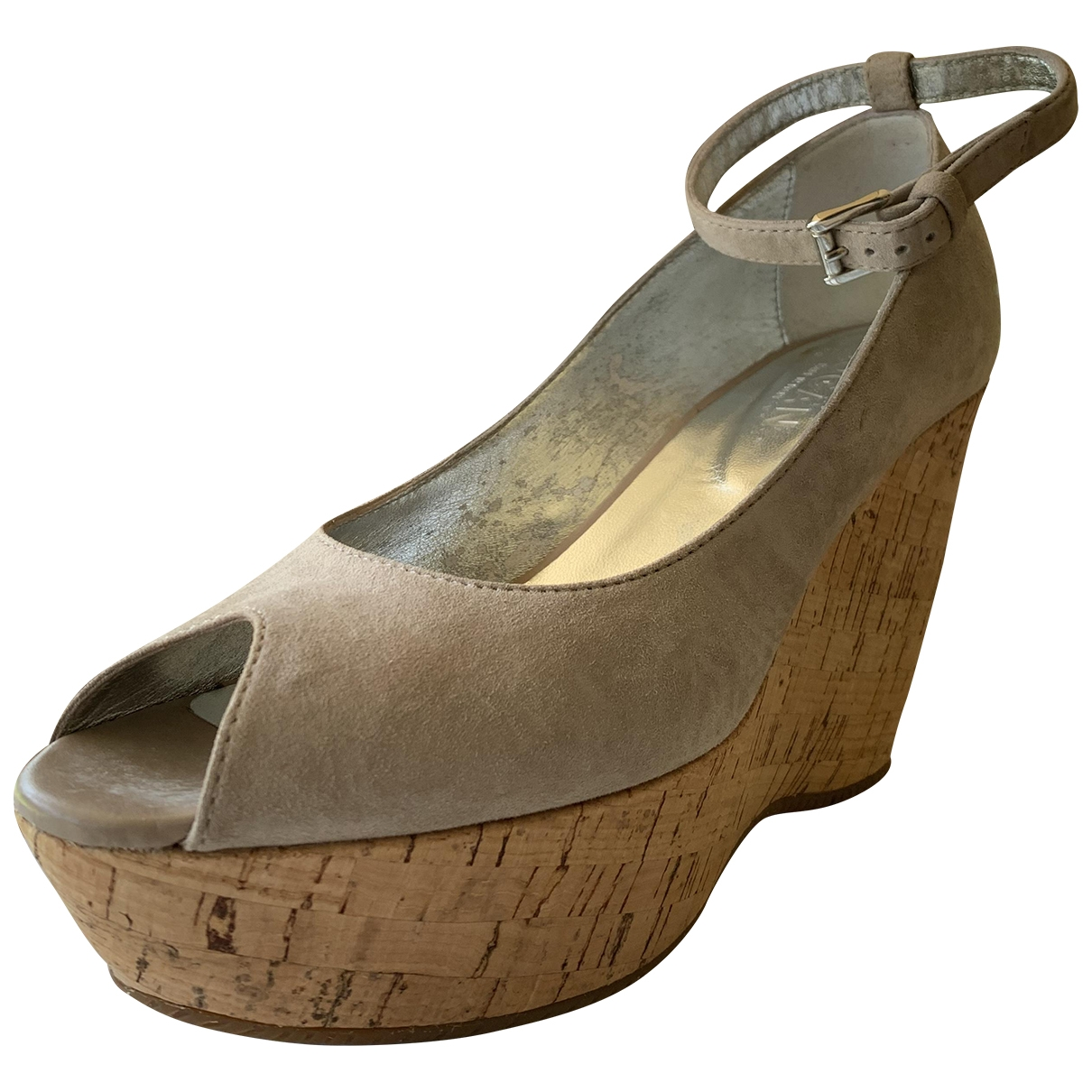 Hogan - Sandales   pour femme en suede - gris