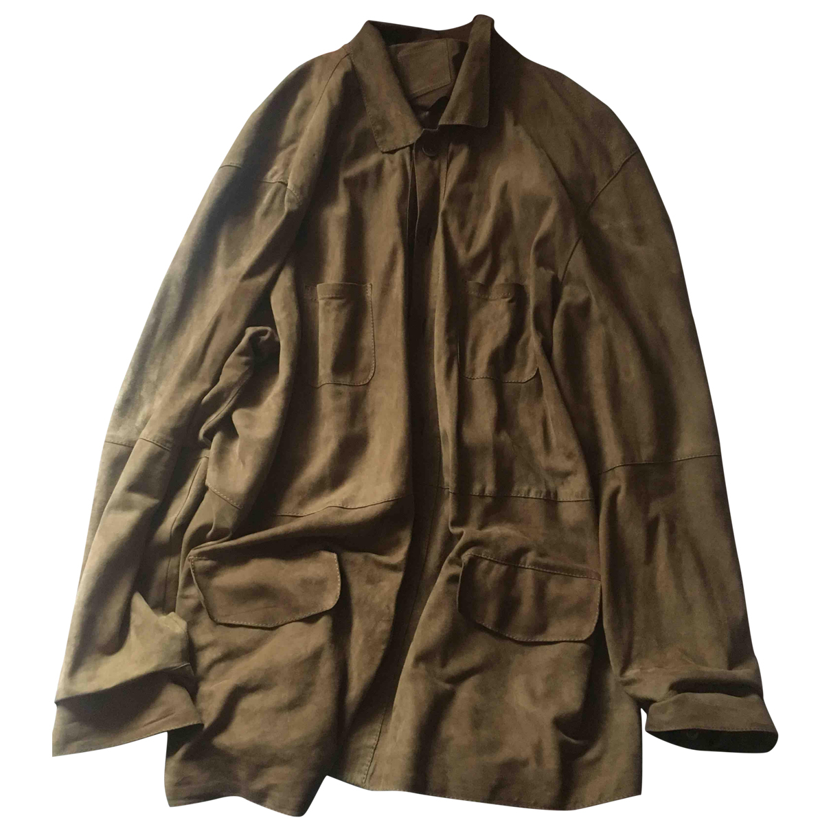 Desa N Brown Suede jacket  for Men 54 IT