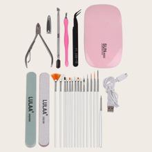 9pcs Nail Art Tools & 15pcs Nail Brush