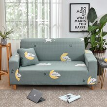 Moon Print Sofa Cover Without Cushion
