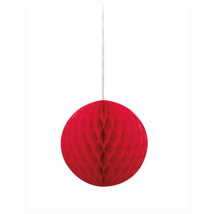 Honeycomb Paper Ball for Party Decoration 8'' - Red