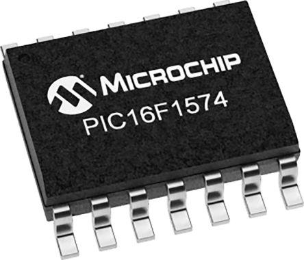 Microchip PIC16LF1574-I/SL, 8bit 8 bit CPU Microcontroller, PIC16LF, 32MHz, 7 kB Flash, 14-Pin SOIC (57)