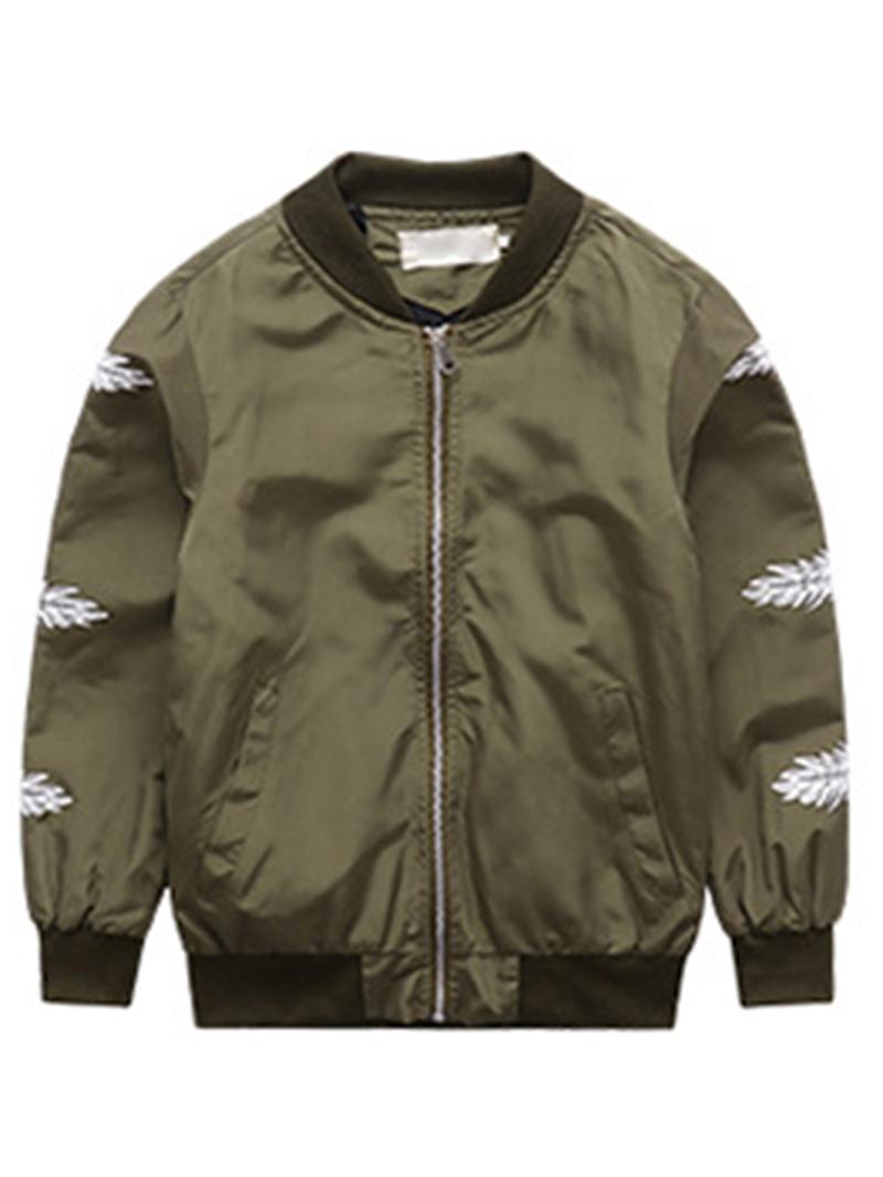 Ericdress Stylish Feather Print Zipper Boys' Jacket