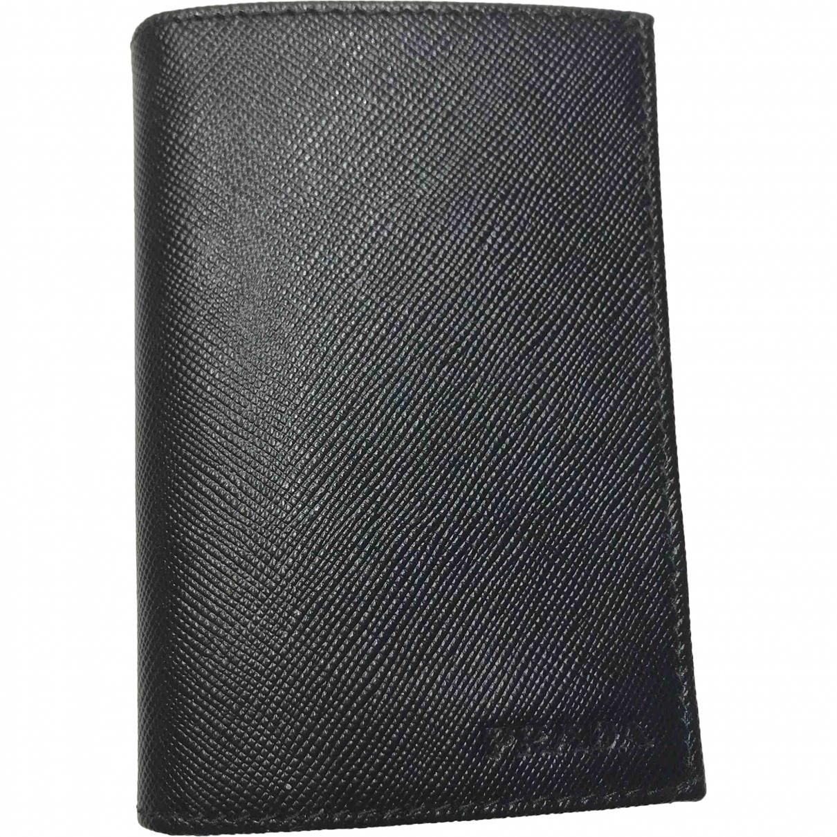 Prada \N Black Leather Purses, wallet & cases for Women \N