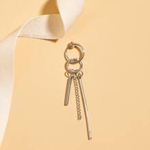 1 Stuecke Maenner Ohrringe mit metallischem Anhaenger