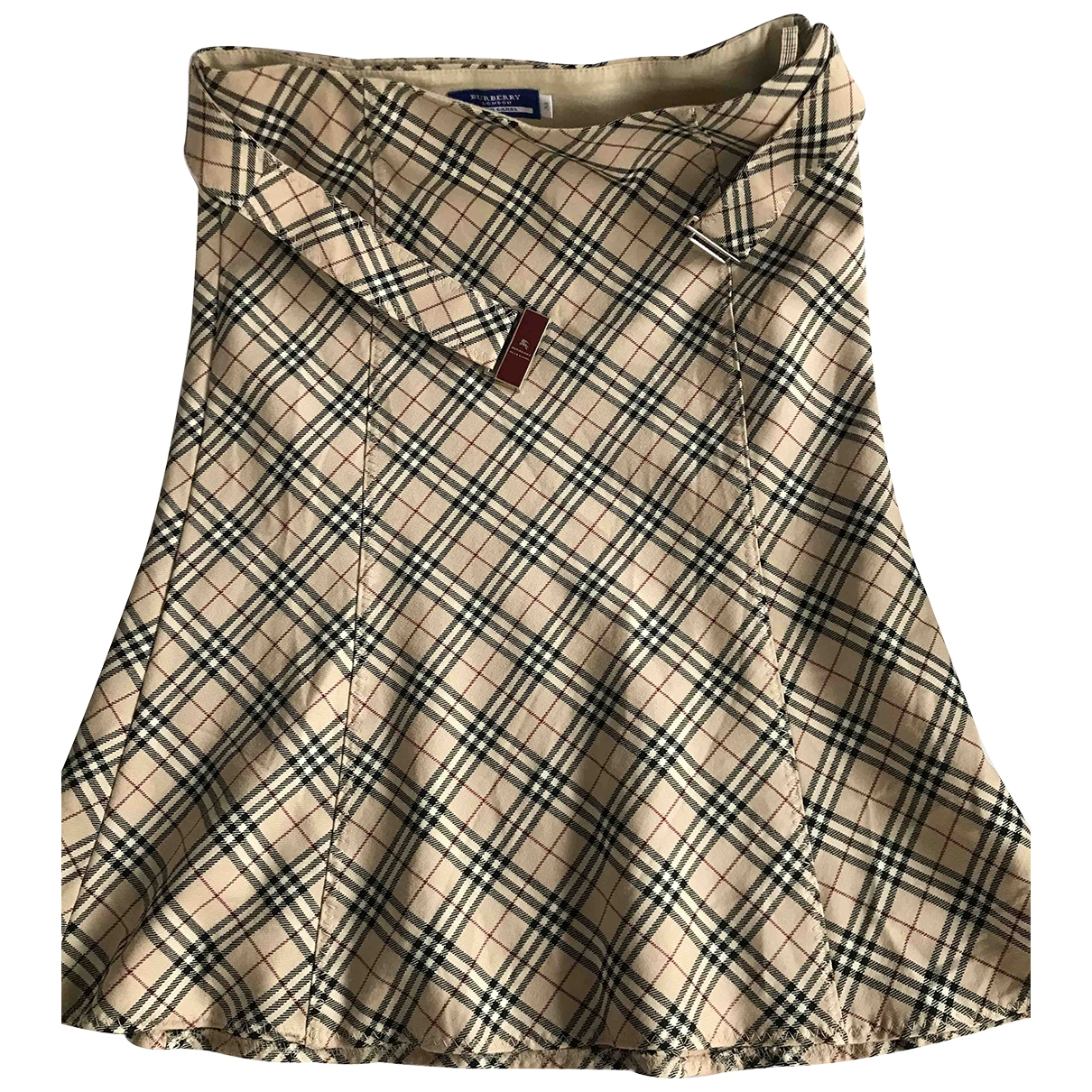 Burberry \N Beige Cotton - elasthane skirt for Women 38 FR