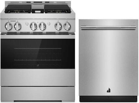 2 Piece Kitchen Appliances Package with JGRP430HM 30