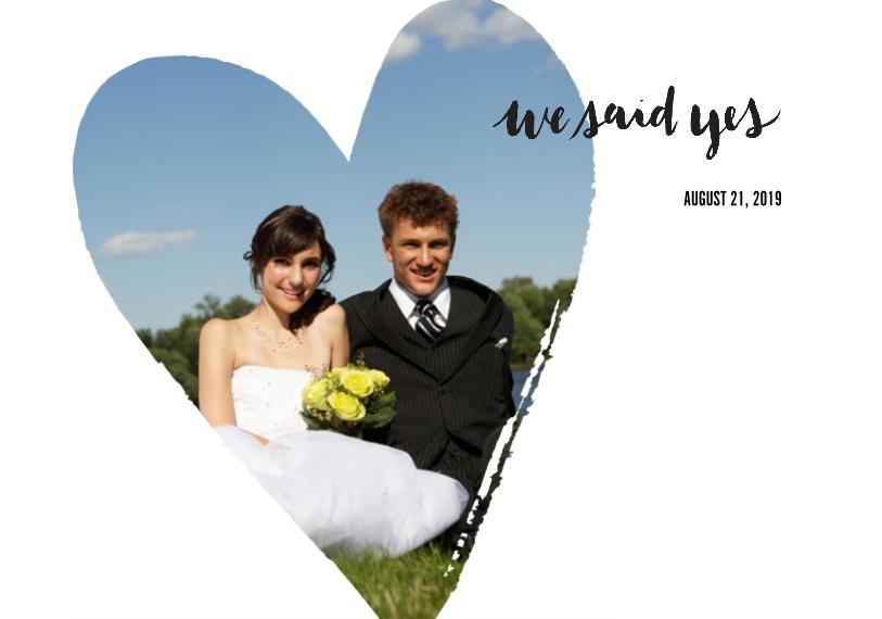 Wedding Framed Canvas Print, Black, 20x30, Home Décor -We Said Yes