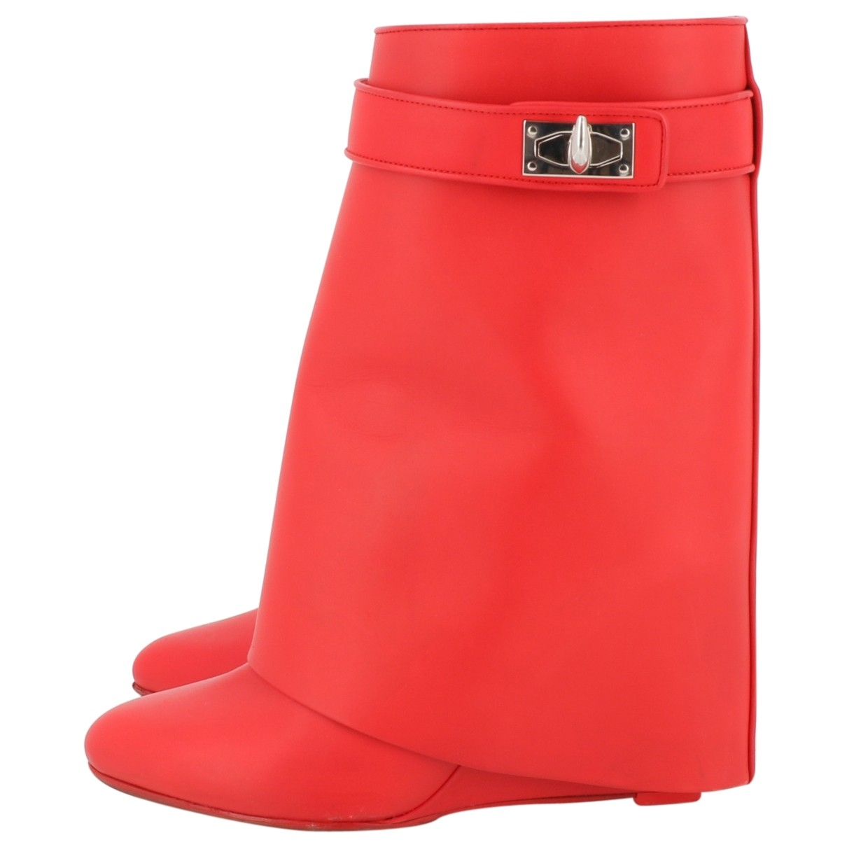 Givenchy Shark Red Leather Ankle boots for Women 36 EU