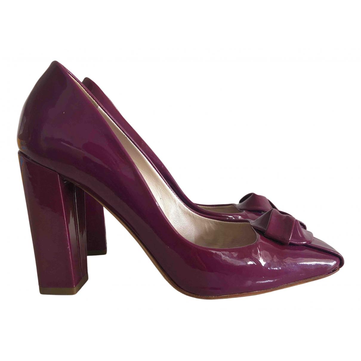 Dior - Escarpins   pour femme en cuir verni - violet