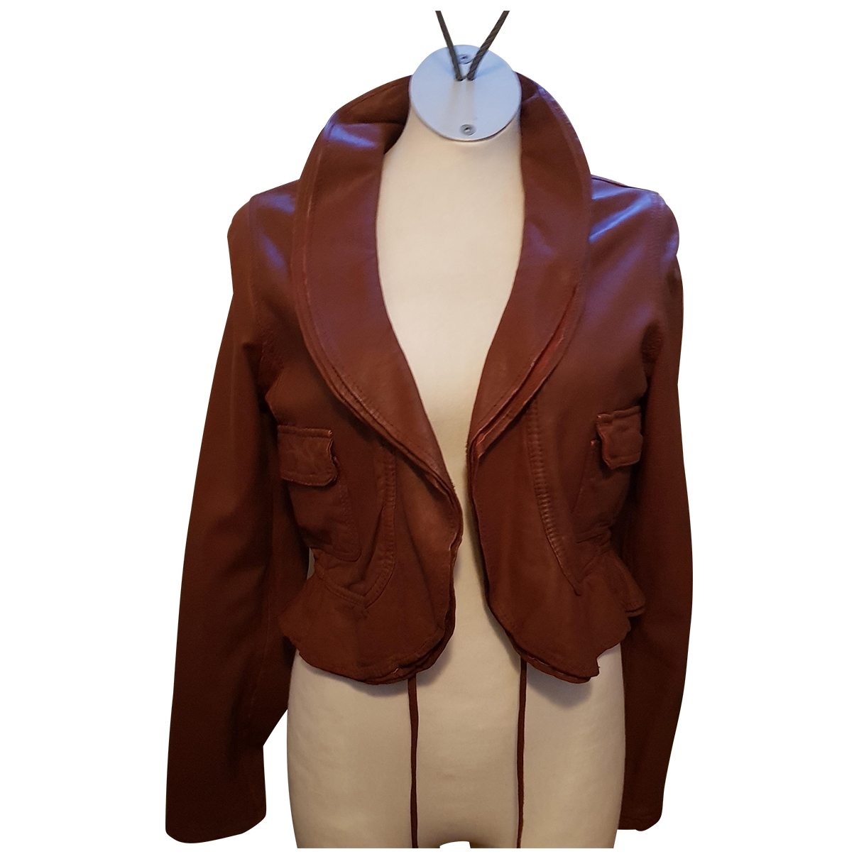 Les Petites \N Brown Leather jacket for Women 3 0-5