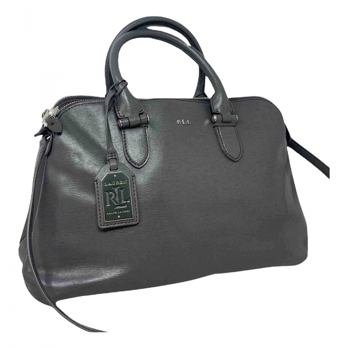 Lauren Ralph Lauren N Grey Leather handbag for Women N