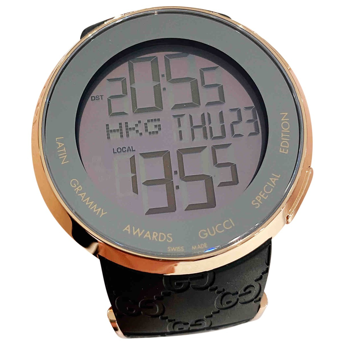 Gucci I-Gucci Digital Uhr in  Gold Stahl