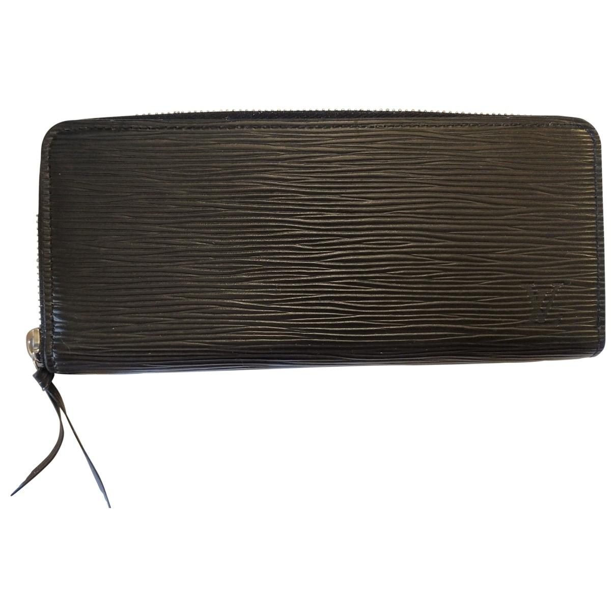 Louis Vuitton - Portefeuille Louise pour femme en cuir - noir