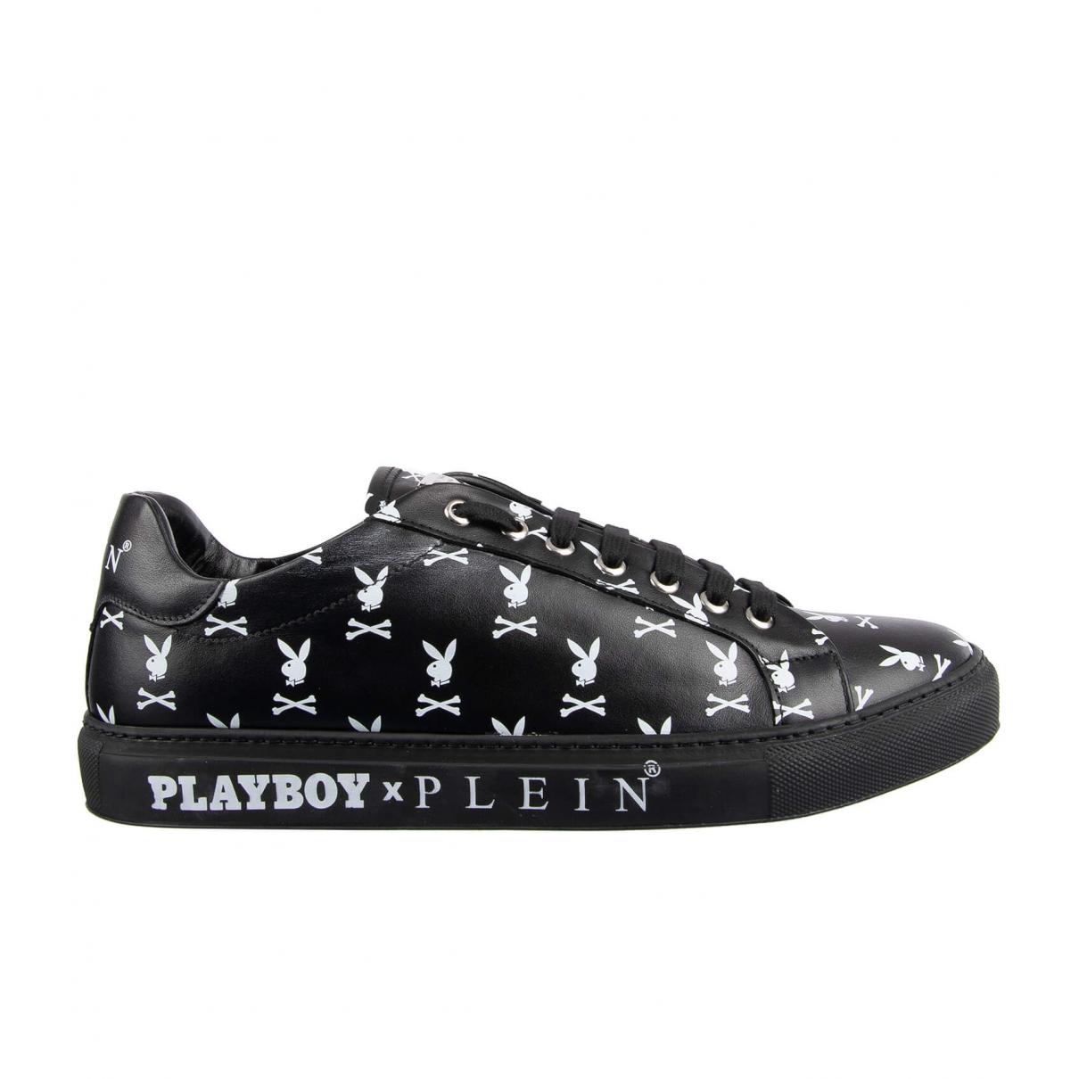 Philipp Plein - Baskets   pour homme en cuir - noir