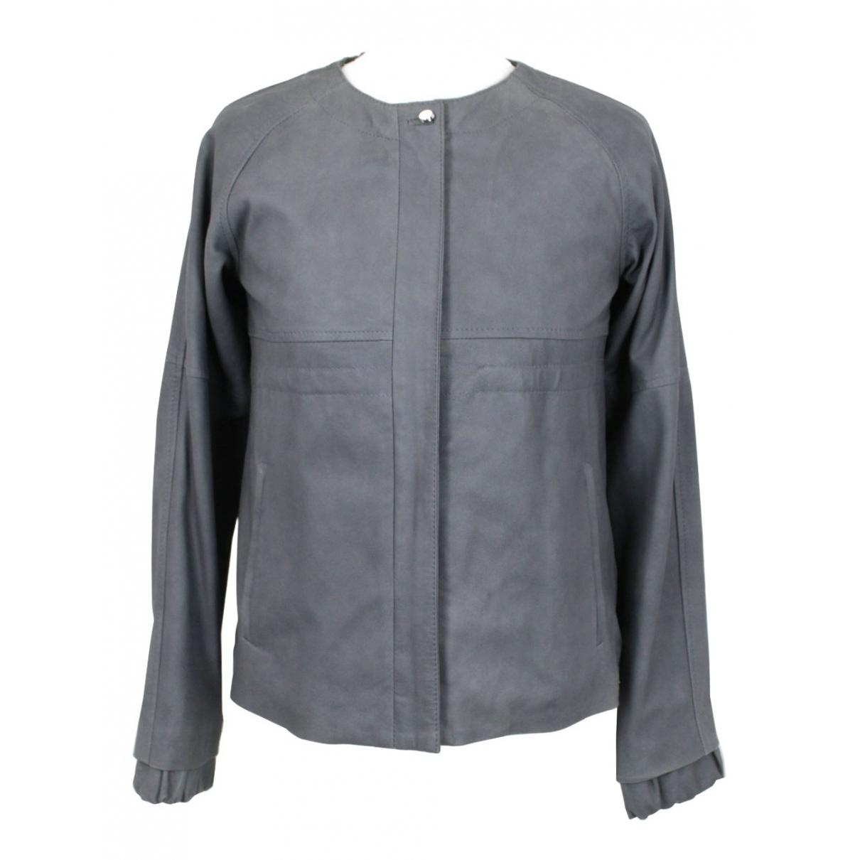 Chloé N Grey Leather jacket for Women S International