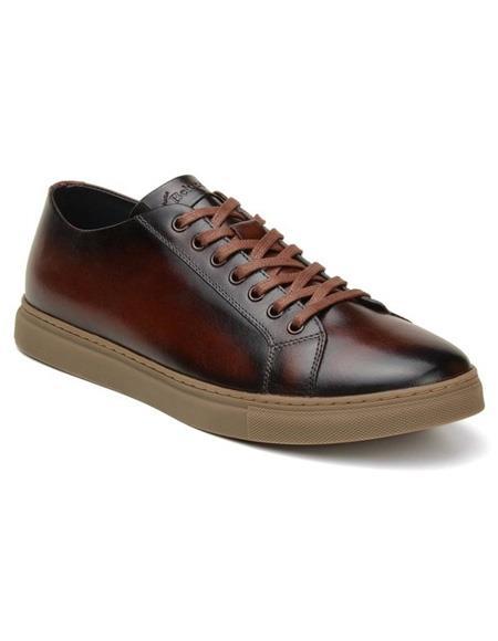 Mens Lace Up Cognac Shoe