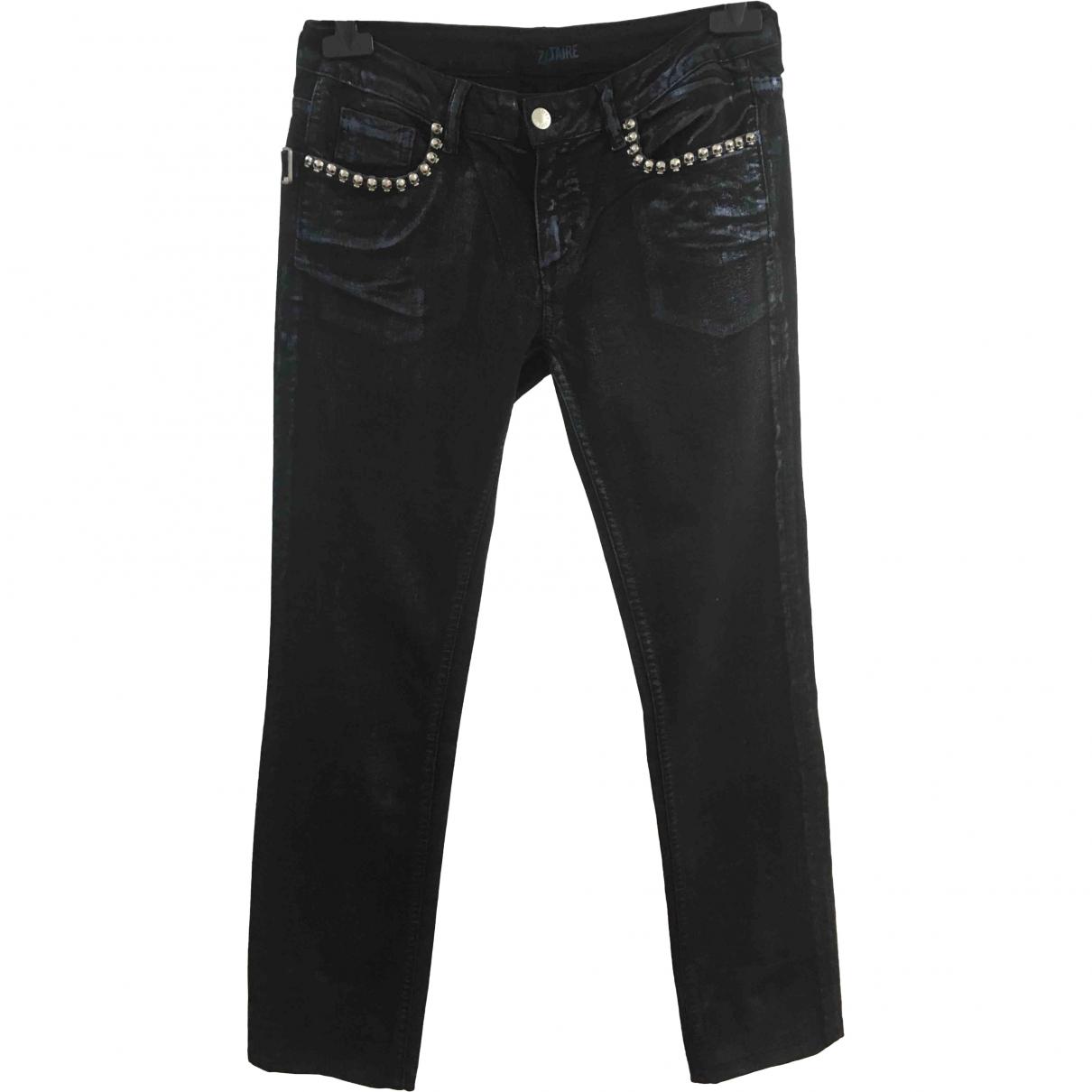 Zadig & Voltaire \N Black Cotton Jeans for Women 27 US