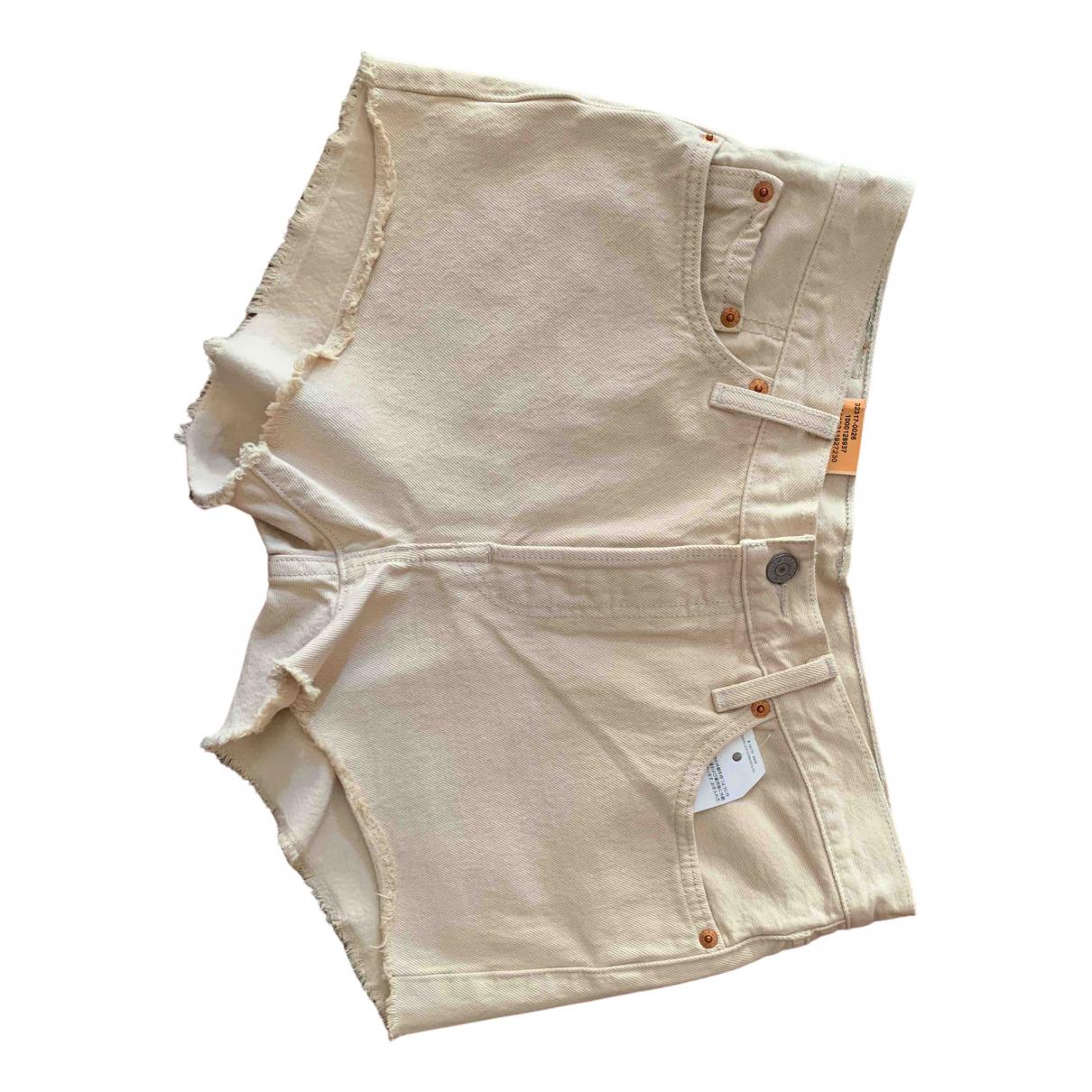 Levis \N Shorts in  Beige Baumwolle