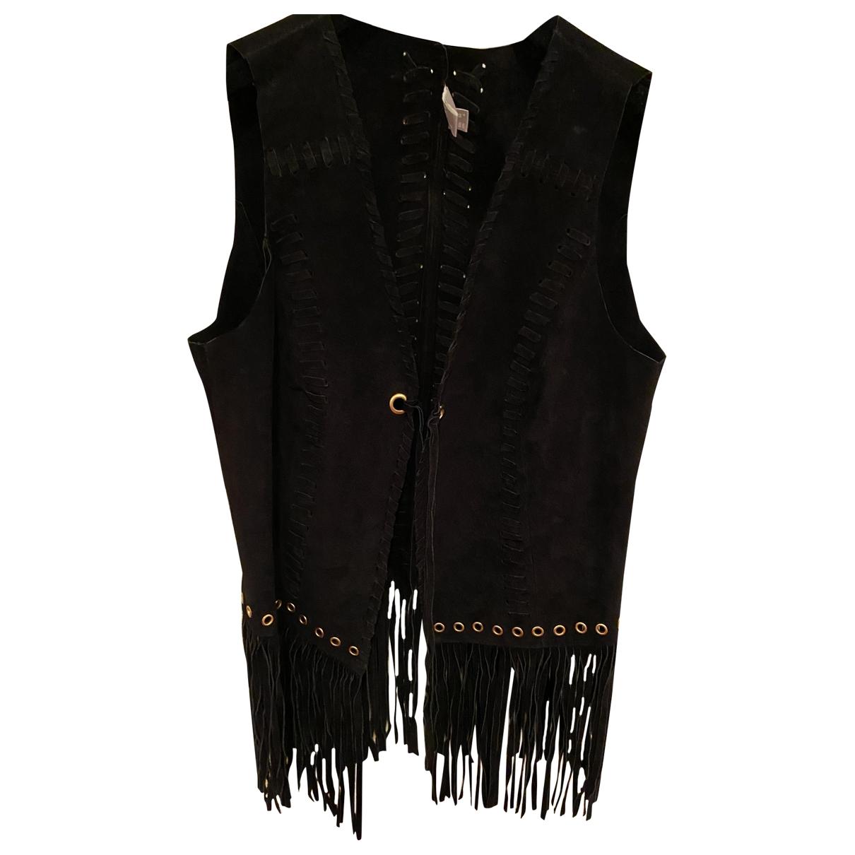 Asos - Veste   pour femme en cuir - noir
