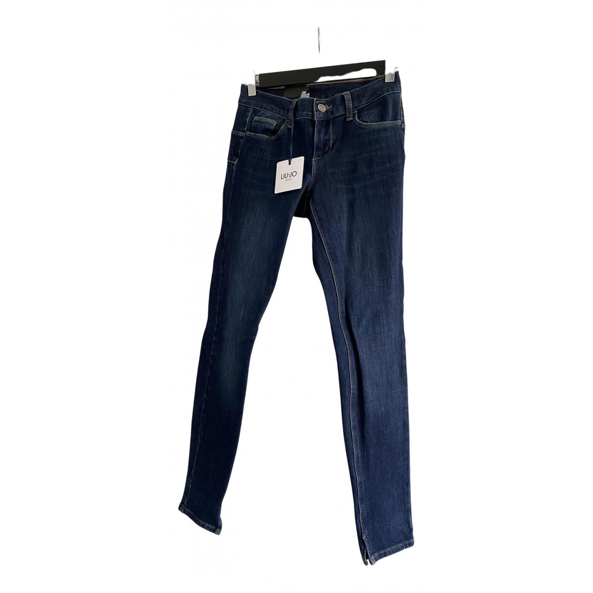Liu.jo N Blue Cotton Jeans for Women 36 FR