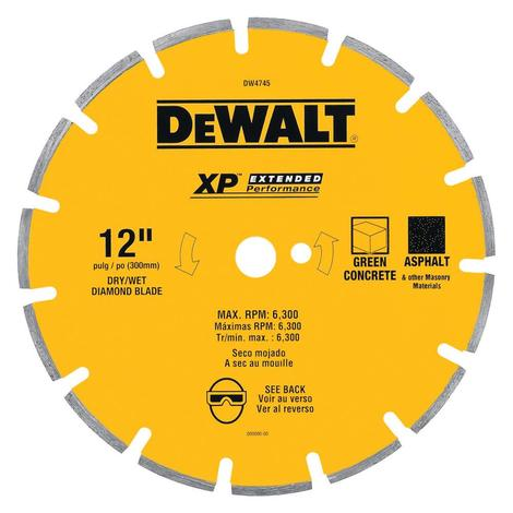 DeWalt 12 In. XP Asphalt/Green Concrete Segmented Diamond Blade