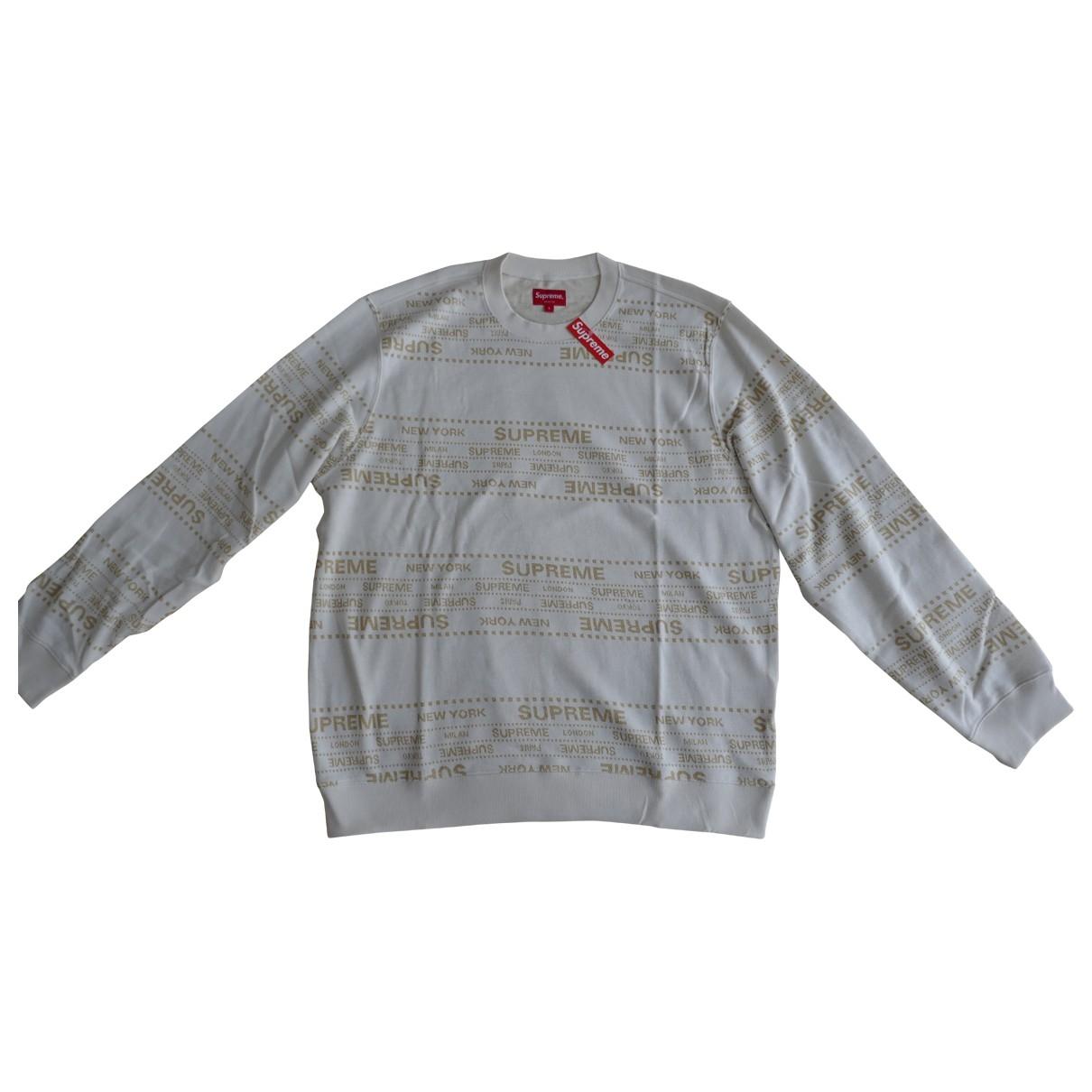 Supreme \N White Cotton Knitwear & Sweatshirts for Men M