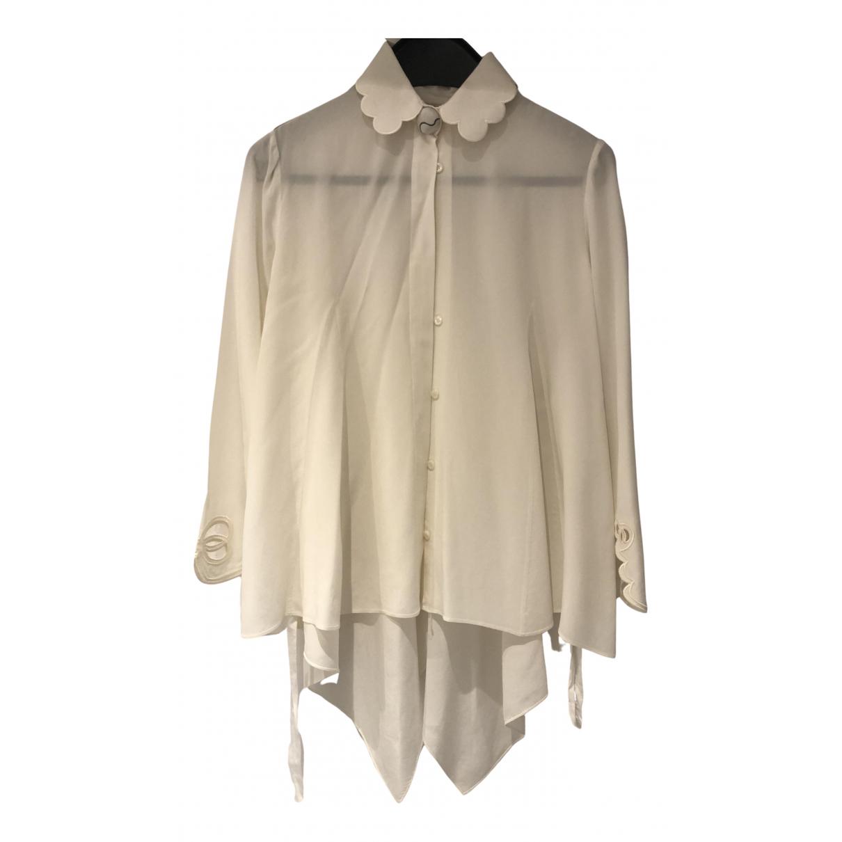 Fendi N Beige Silk  top for Women 40 IT