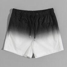 Shorts de hombres de ombre con bolsillo de cintura con cordon