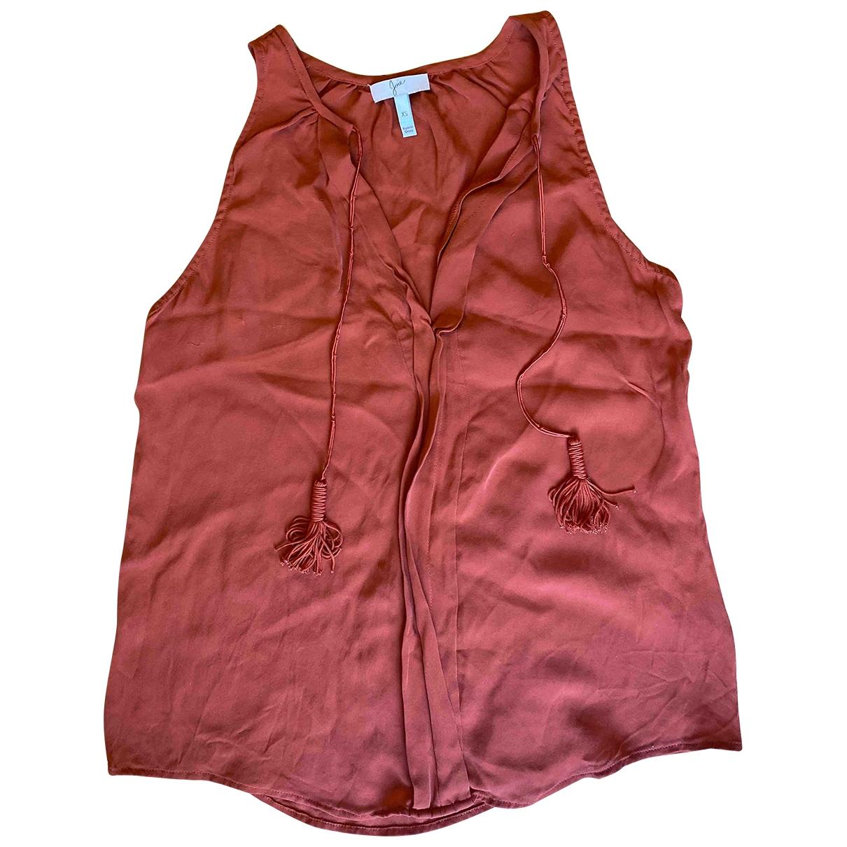 Joie \N Orange Silk  top for Women XS International