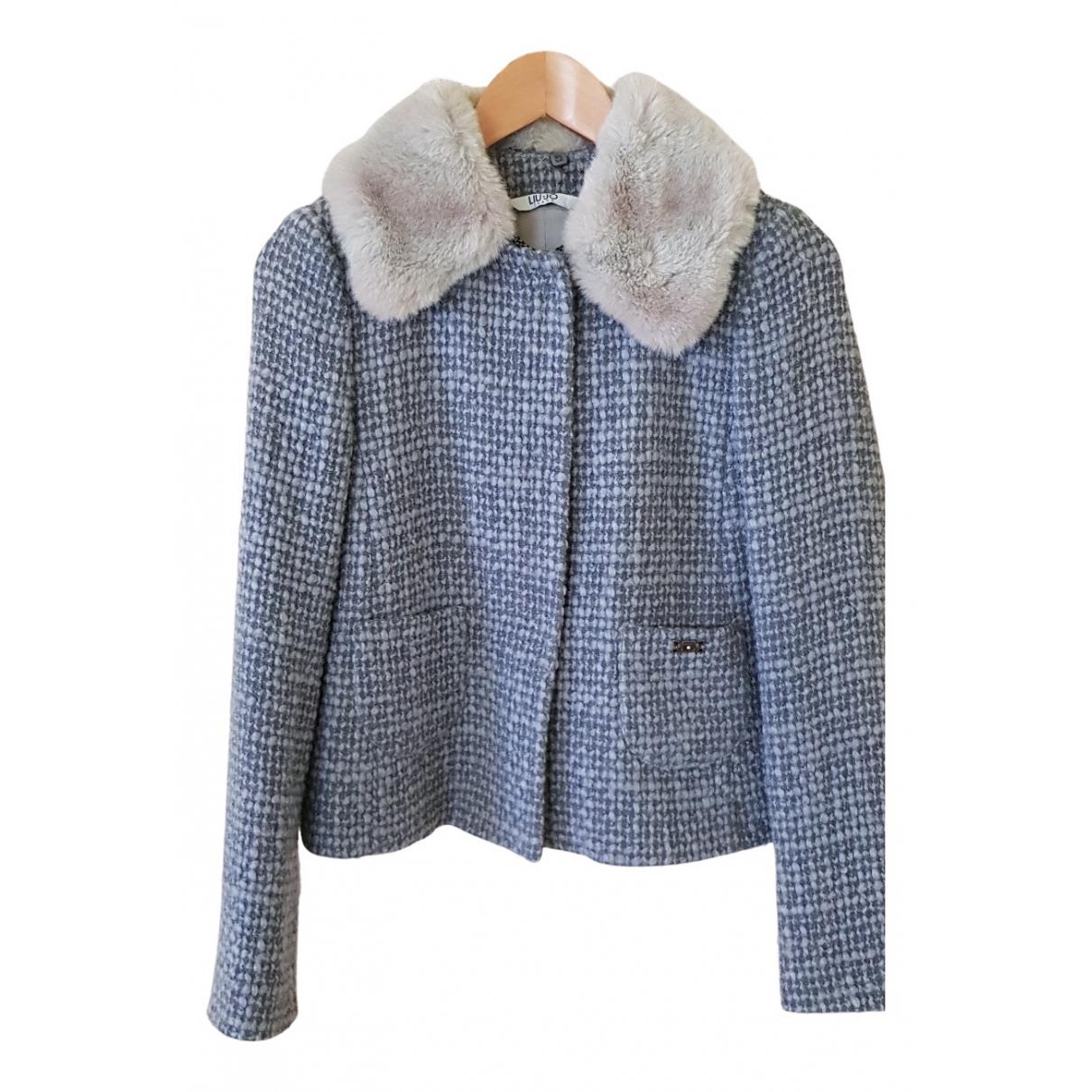 Liu.jo N Blue Wool jacket for Women 42 FR
