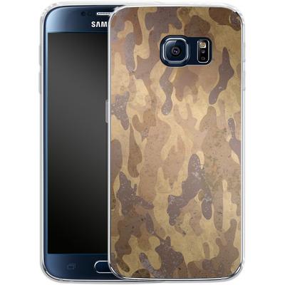Samsung Galaxy S6 Silikon Handyhuelle - Camo Bark von caseable Designs