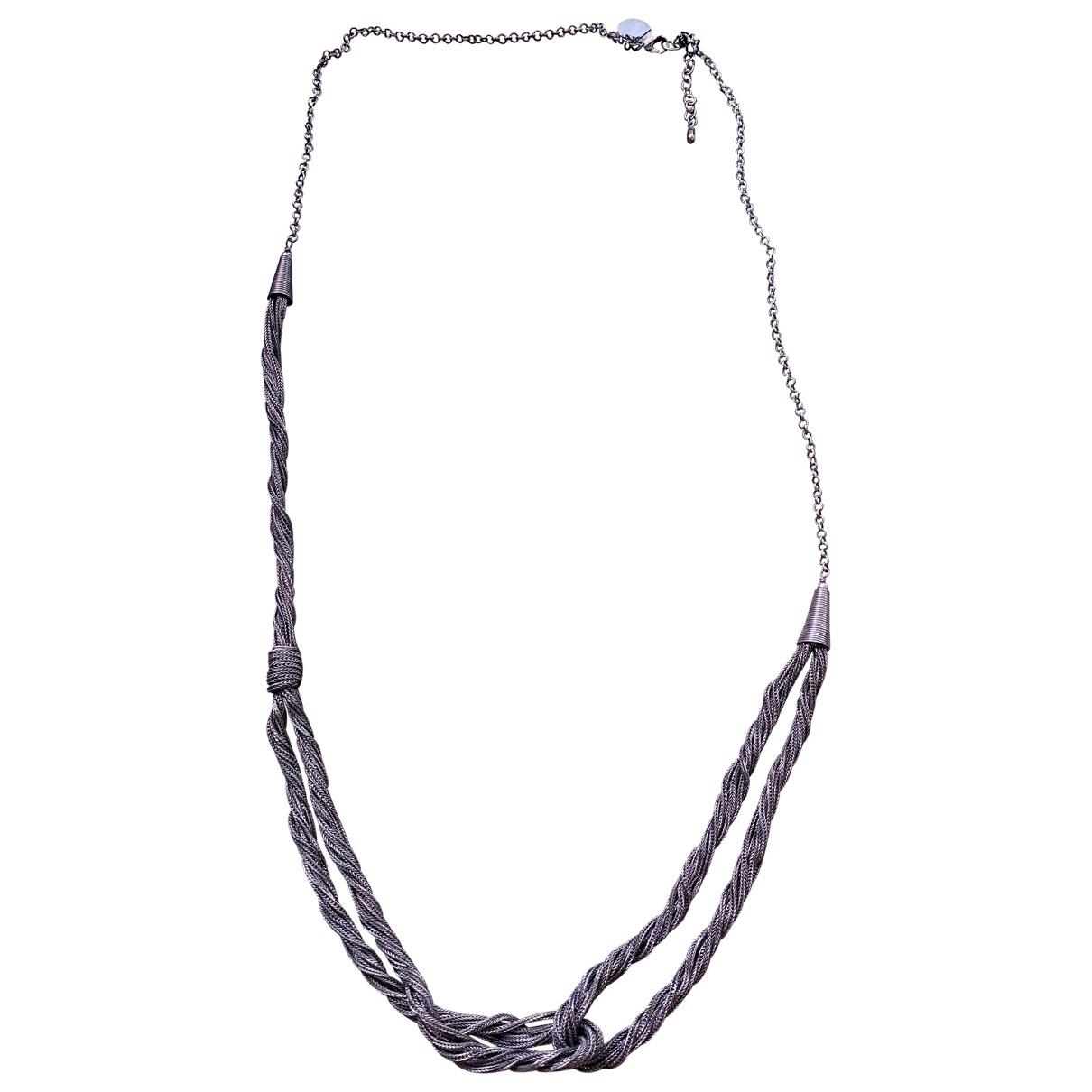 Ikks \N Silver Steel Long necklace for Women \N