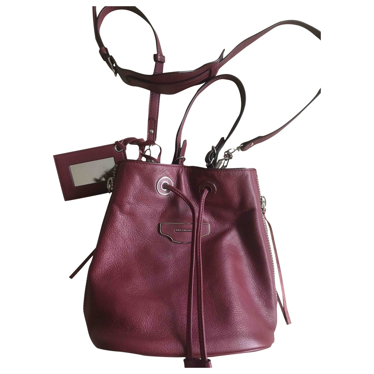 Balenciaga \N Burgundy Leather handbag for Women \N