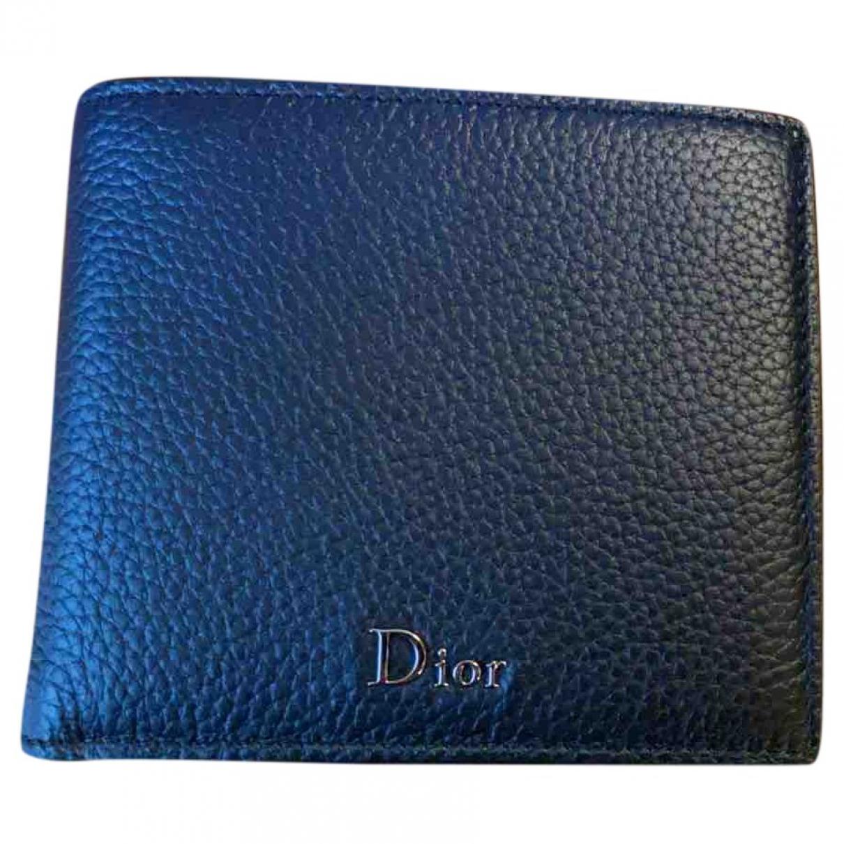 Dior Homme \N Kleinlederwaren in  Marine Leder
