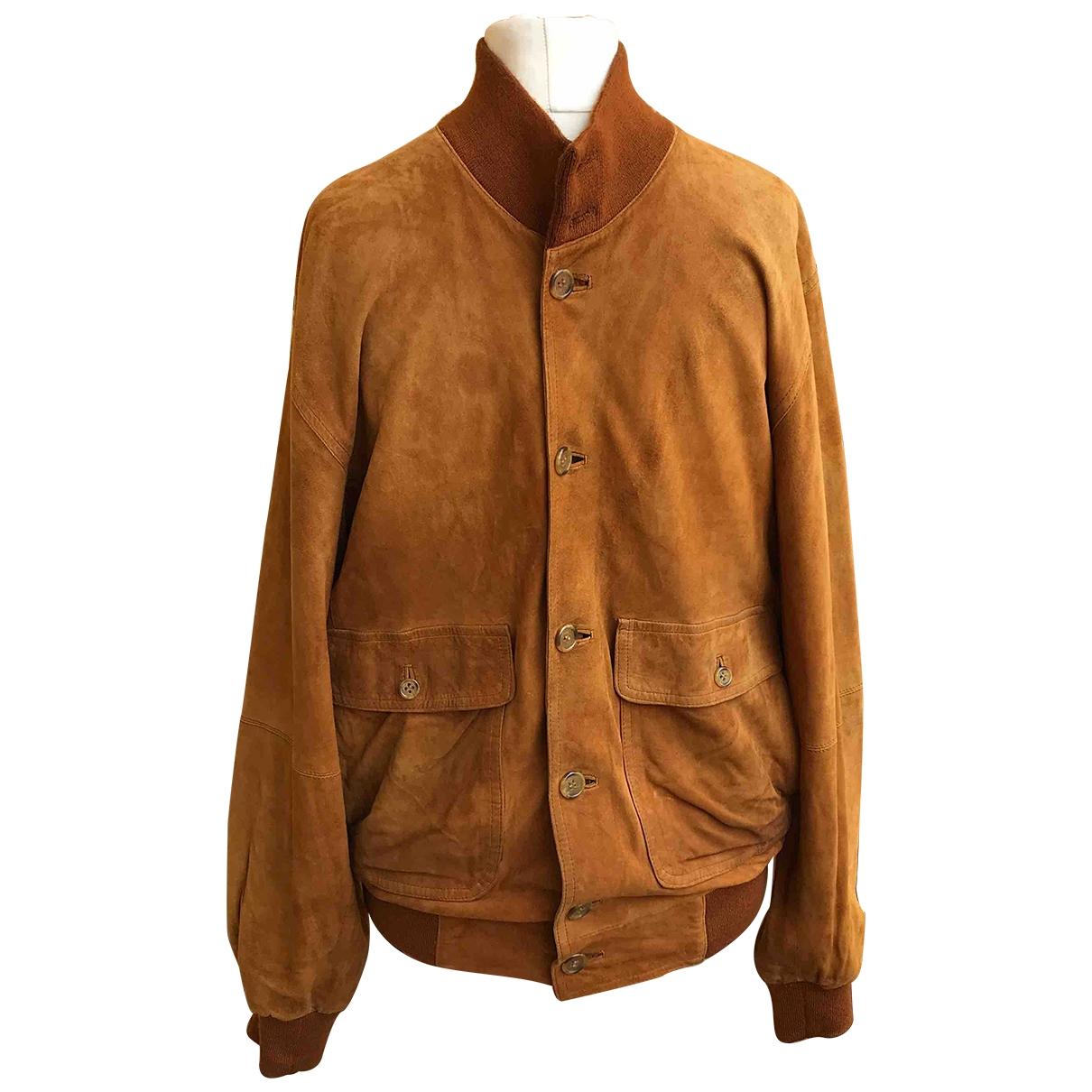 Burberry \N Brown Leather jacket  for Men L International