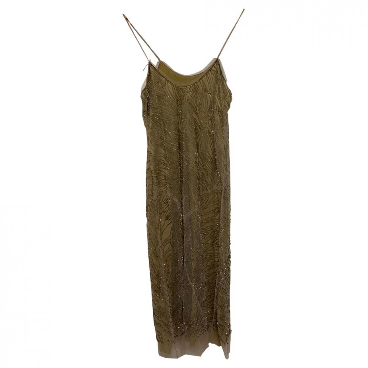 Alberta Ferretti - Robe   pour femme en soie - dore