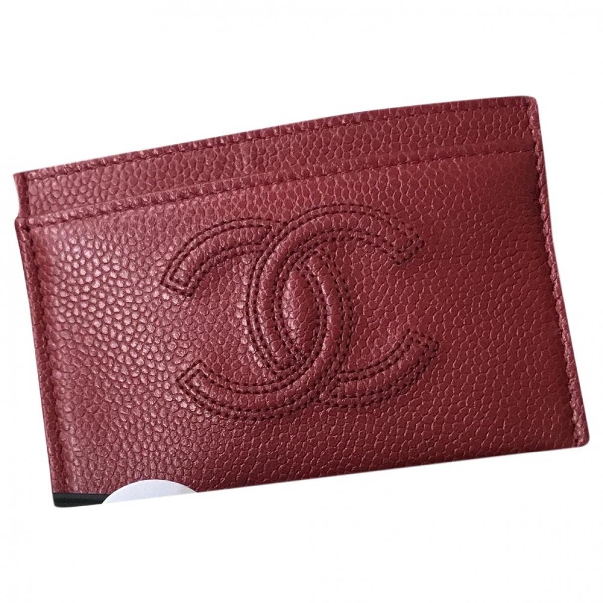 Chanel \N Kleinlederwaren in  Rot Exotenleder