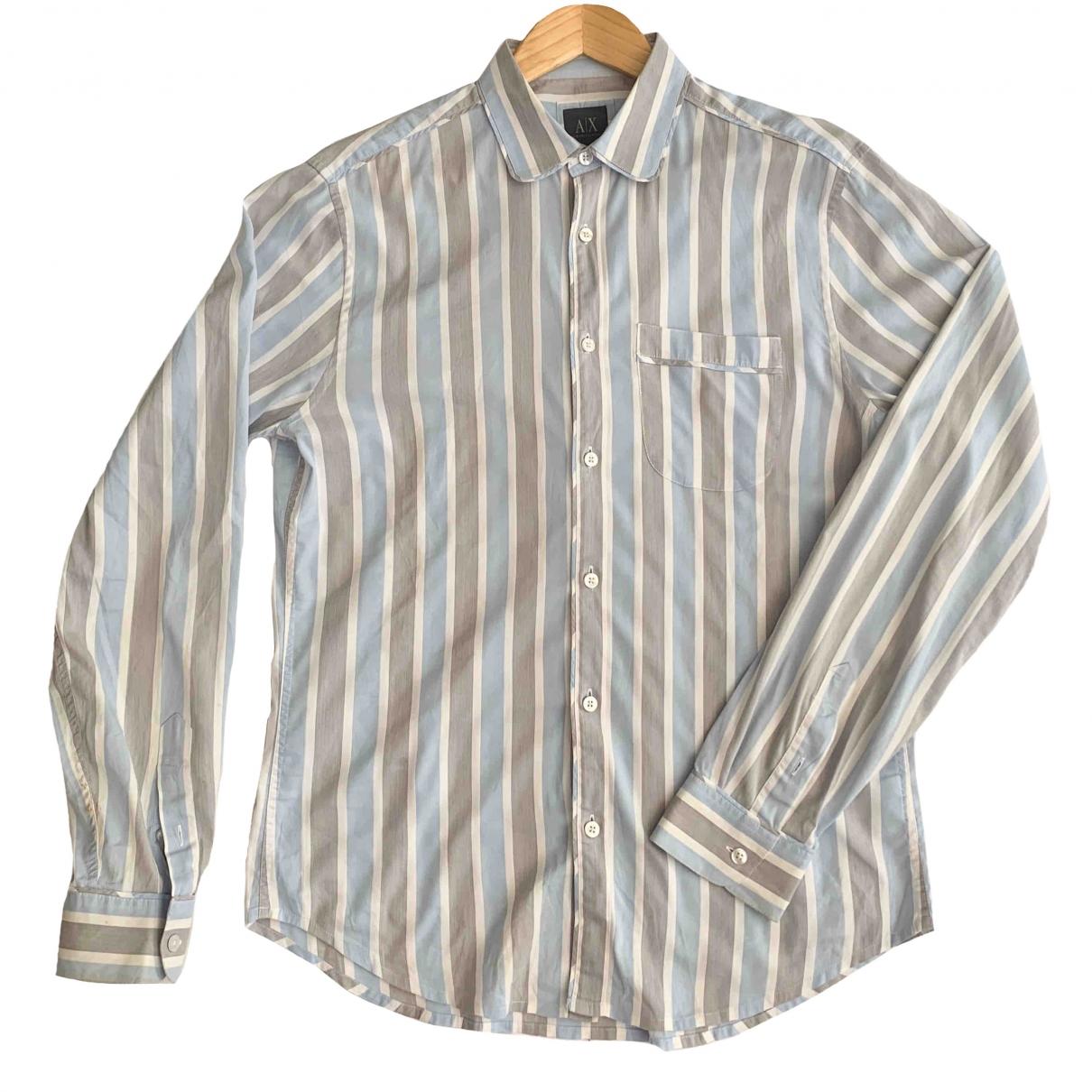 Emporio Armani - Chemises   pour homme en coton - bleu