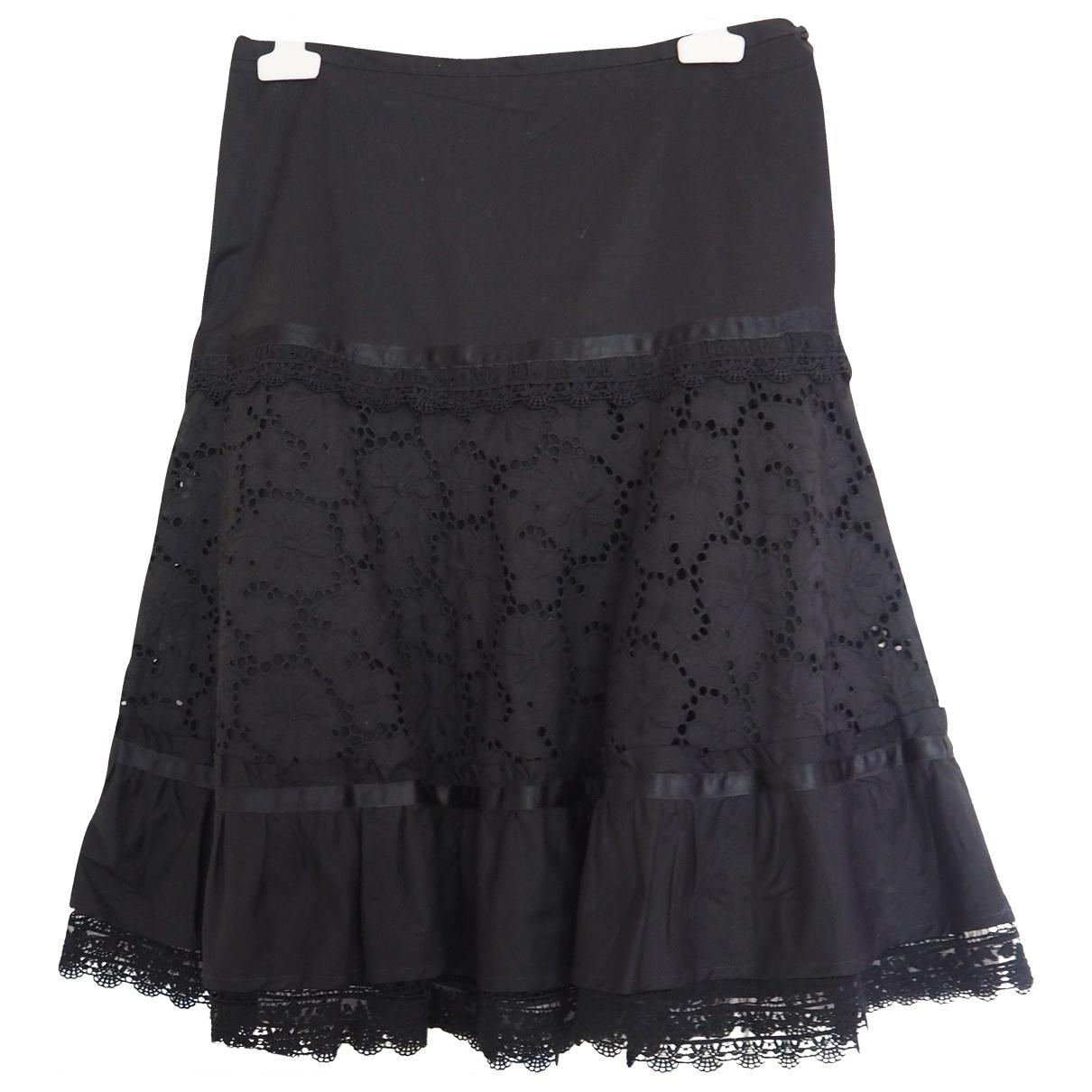 Pinko \N Black Cotton skirt for Women 42 IT