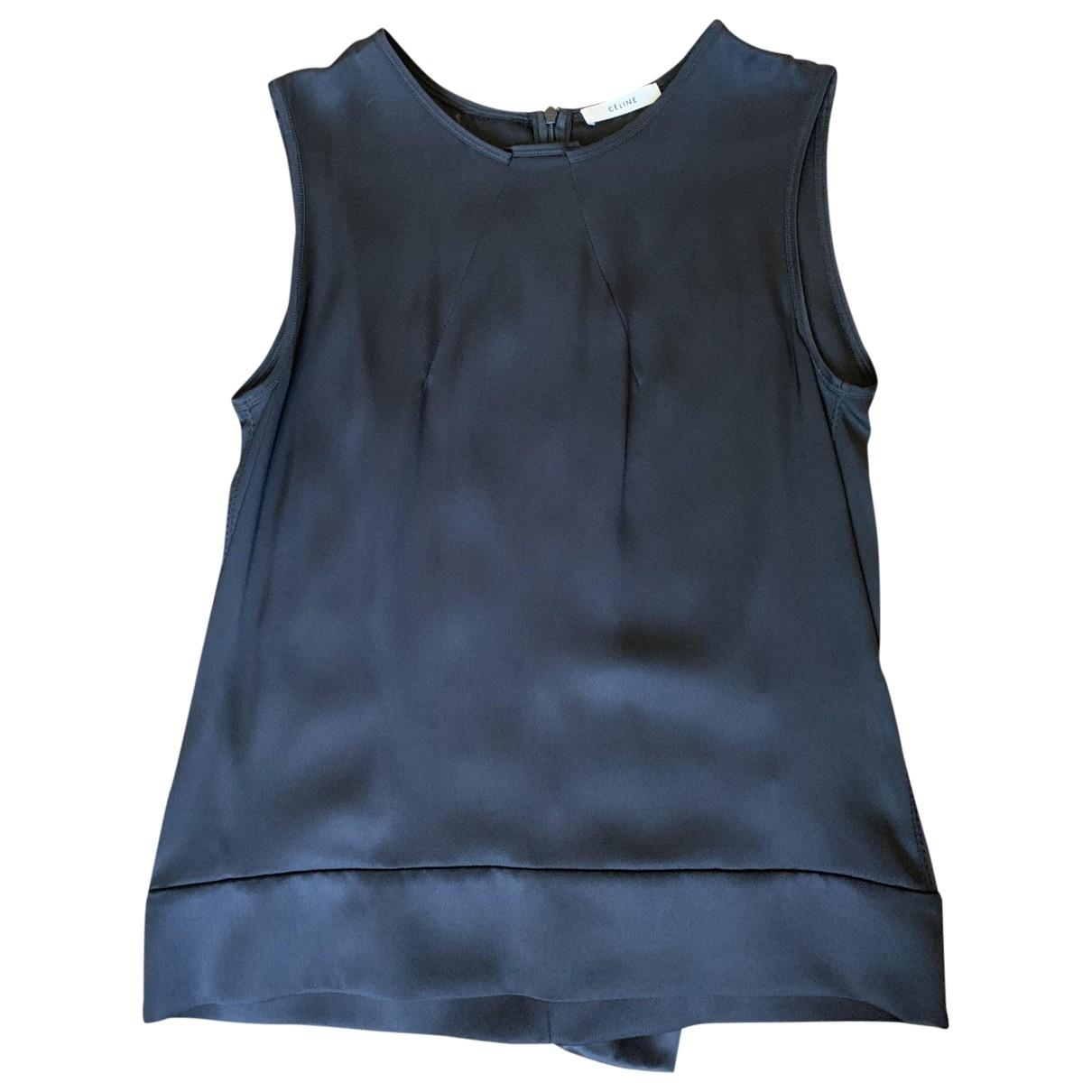 Celine \N Black Silk  top for Women 38 FR