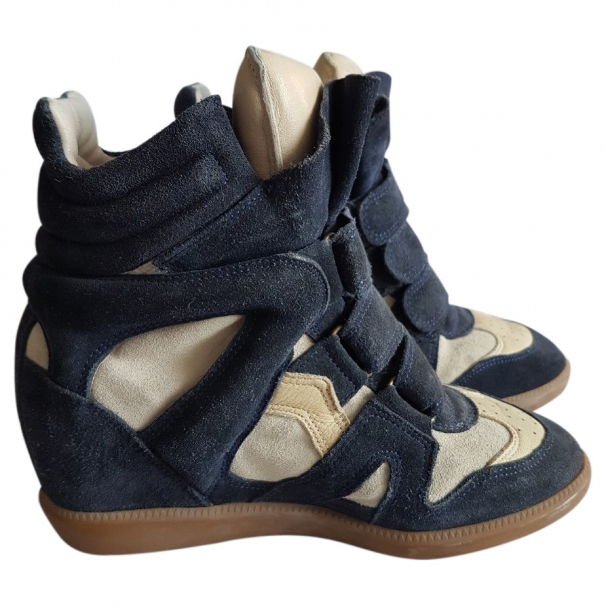 Isabel Marant - Baskets Bayley pour femme en suede - bleu